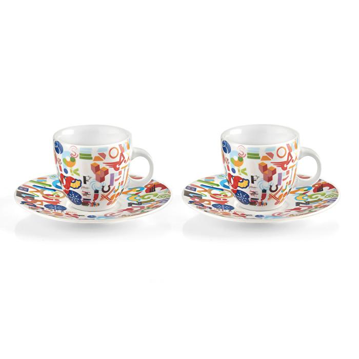 Set 2 tazzine caffè ALPHABET_GOCCE_TAZZE | Guzzini