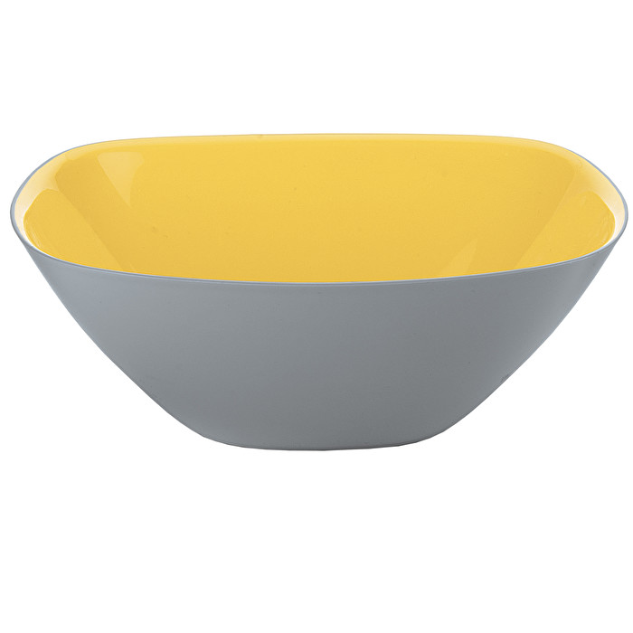 Guzzini Two Tone Bowl Vintage Plus 20cm Yellow//Grey